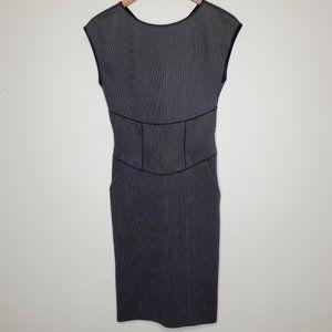 Giorgio Armani Fitted Textured Midi Dress, sz 38